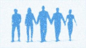 Команда рабочей силы цифров людей иллюстрация штока