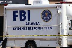 Команда реакции доказательства ФБР Стоковые Изображения RF