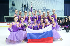 Команда Россия одна съемка группы Стоковые Изображения