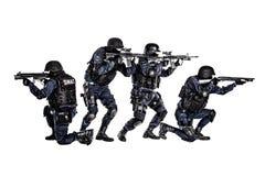 Команда СВАТ в действии Стоковая Фотография RF