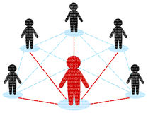 команда сети принципиальной схемы делового сообщества Стоковое Изображение RF