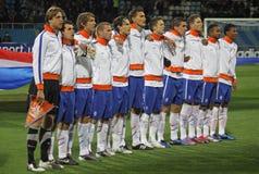 команда соотечественника 21 нидерландская вниз Стоковое Фото