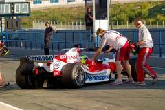 Команда Тойота F1, Olivier Panis, 2006 Стоковые Изображения