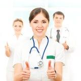 Команда умных и молодых кавказских докторов Стоковые Фотографии RF