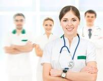 Команда умных и молодых кавказских докторов Стоковое фото RF