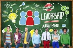 Команда управления руководства людей разнообразия вскользь стоковая фотография