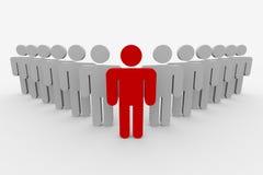 команда человека руководителя принципиальной схемы 3d Стоковая Фотография RF
