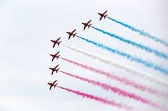 Команда эффектного выступления военновоздушной силы стоковая фотография