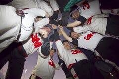 команда ямы huddle экипажа nascar Стоковая Фотография