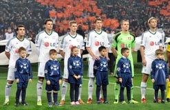 Команда Bayer с детьми Стоковая Фотография