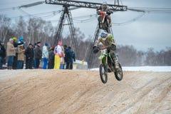 Команда ENOT-RACING Москва Юрия Sestak (75) стоковая фотография rf