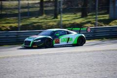 Команда Parker участвуя в гонке Audi R8 LMS ультра Стоковые Изображения RF