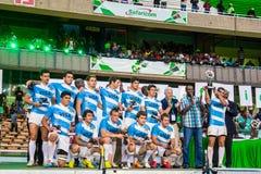 Команда Sevens рэгби Аргентины Стоковые Фото