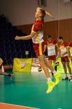 Команды волейбола конкуренции Стоковое фото RF