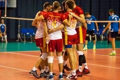 Команды волейбола конкуренции Стоковые Изображения