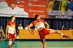 Команды волейбола конкуренции Стоковое Фото