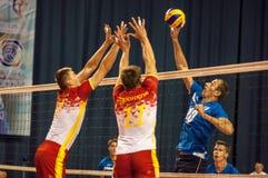 Команды волейбола конкуренции Стоковые Фото