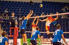 Команды волейбола конкуренции Стоковое Изображение