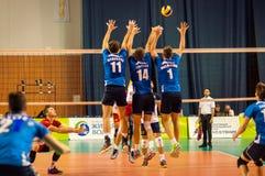 Команды волейбола конкуренции Стоковая Фотография
