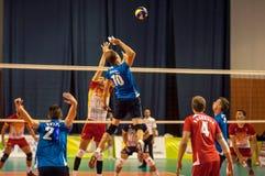 Команды волейбола конкуренции Стоковое Изображение RF
