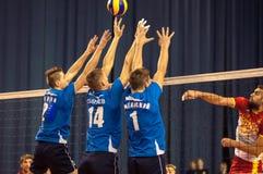 Команды волейбола конкуренции Стоковые Фотографии RF