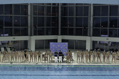 Команды водного поло стоковое изображение rf