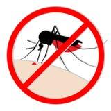 Комариный укус Иллюстрация штока