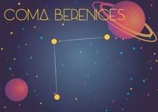Кома Berenices созвездия Стоковая Фотография