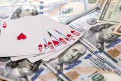 Комбинация королевской улицы внезапная на американских долларах стоковое фото rf