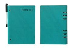 Комбинация положительных тетради анти- и ручки Стоковая Фотография