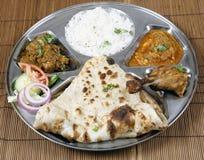 комбинированное индийское thali Стоковые Изображения