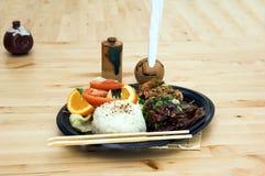 комбинированное teriyaki плиты стоковые фотографии rf