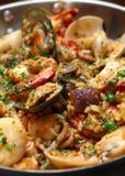 комбинированные свежие продукты моря риса Стоковая Фотография
