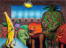 комедия клуба банана Стоковые Изображения