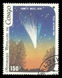 Комета западная стоковая фотография rf