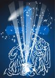 Комета рождества Стоковая Фотография