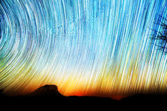 Кометы Startrails Стоковое фото RF