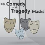 комедия маскирует трагизм Стоковое Фото