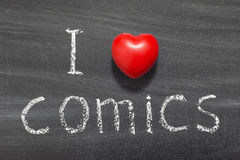 Комиксы влюбленности стоковые изображения