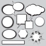 комиксы пузырей установили вектор типа речи Стоковые Изображения
