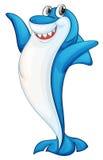 Комичная иллюстрация акулы иллюстрация вектора