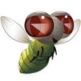 Комичная муха иллюстрация вектора