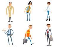 Комичные характеры моды Стоковые Изображения