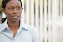 коммерсантка афроамериканца Стоковое Изображение RF
