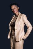 коммерсантка афроамериканца Стоковые Фотографии RF
