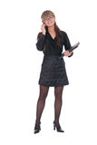 коммерсантка вызывая телефон Стоковое Фото
