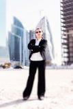Коммерсантка в Дубай стоковое изображение rf
