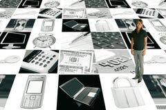 коммерсантка дела электронная Стоковое Изображение RF