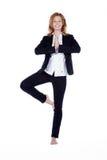 Коммерсантка делая пролом йоги Стоковые Изображения
