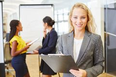 Коммерсантка как бизнес-консультант стоковое изображение rf